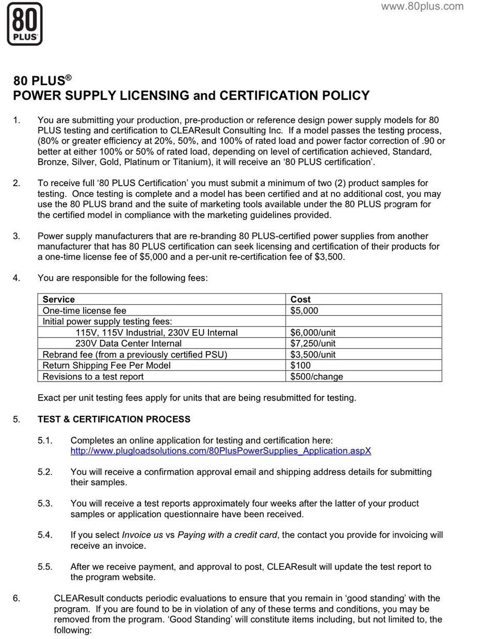 80 Plus aumenta sus tarifas de prueba y licencia, podría afectar los precios de los modelos de PSU de bajo volumen