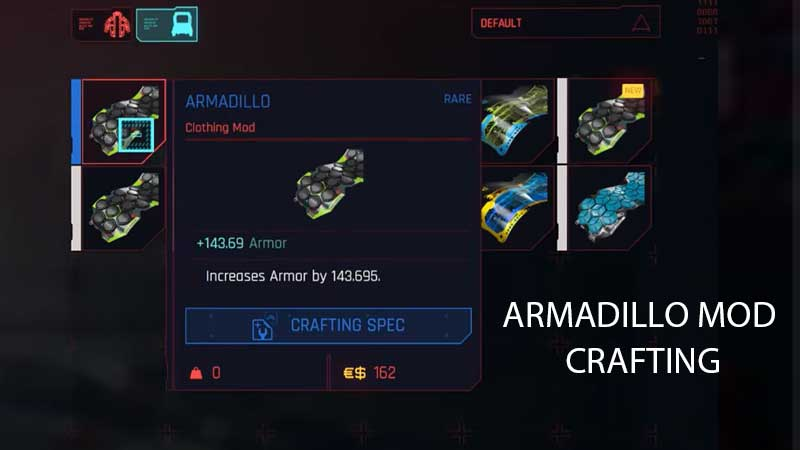 Armadillo Mod Blueprint