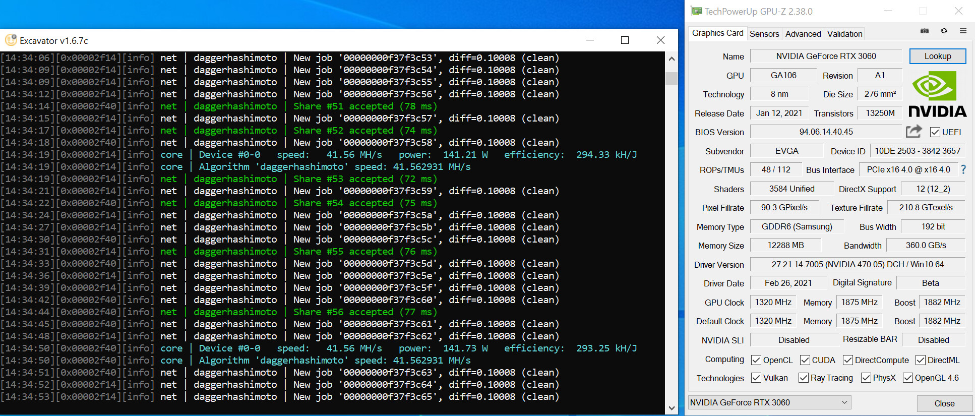 NVIDIA RTX 3060 Hashrate Limited derrotado, el controlador GeForce 470.05 desbloquea el rendimiento de minería completo