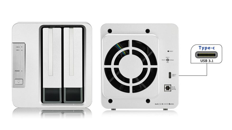 TerraMaster presenta el almacenamiento RAID de 2 bahías D2-310 con USB 3.1