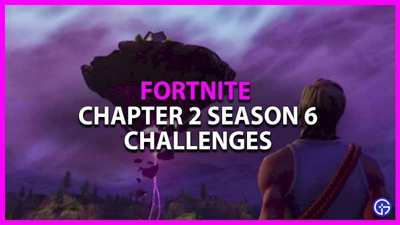 Cómo completar los desafíos de la temporada 6 del capítulo 2