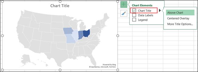 Título del gráfico de mapa