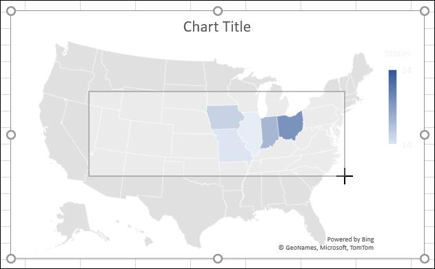 Cambiar el tamaño de un gráfico en Excel