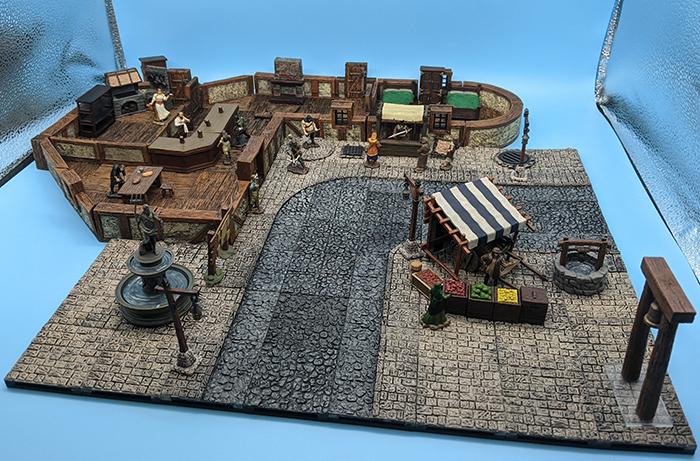 Juego de baldosas WarLock para Town Square, con accesorios