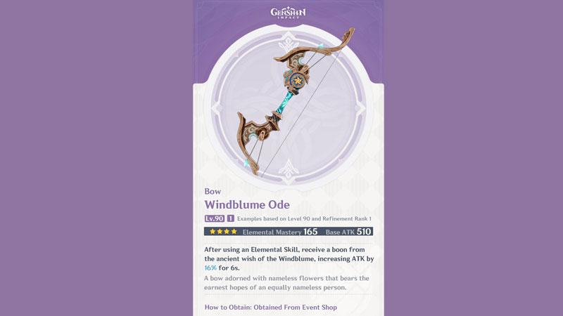 cómo obtener la oda windblume en genshin imact