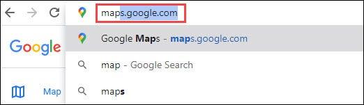 sitio web de google maps