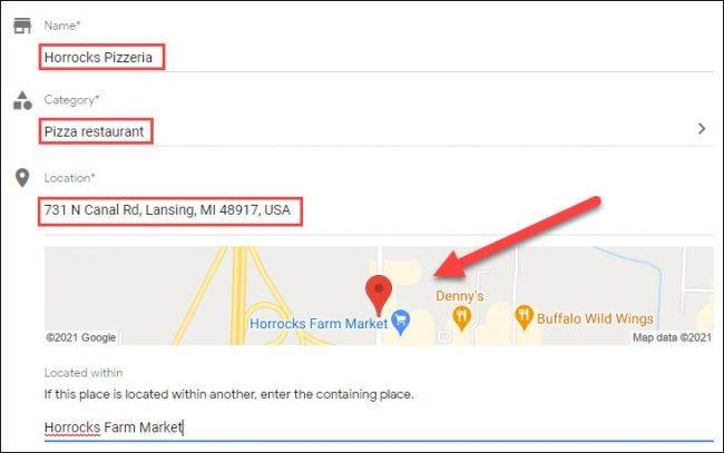 agregar información de ubicación