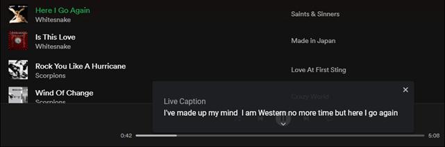 transcribir en vivo en spotify