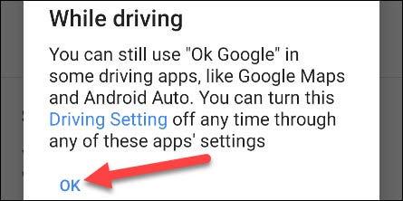 ok google mientras conduces