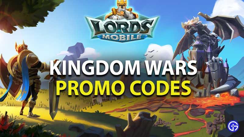 Códigos promocionales de Lords Mobile Kingdom Wars