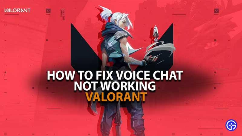 El chat de voz de Valorant no funciona Fallo