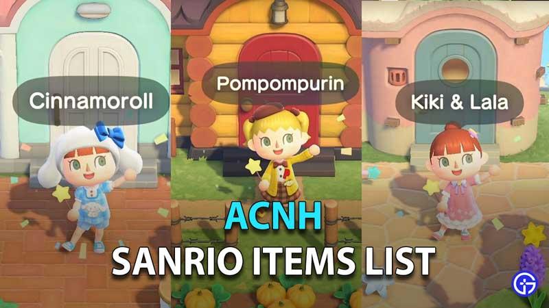 Cómo obtener artículos de Sanrio y Hello Kitty en ACNH
