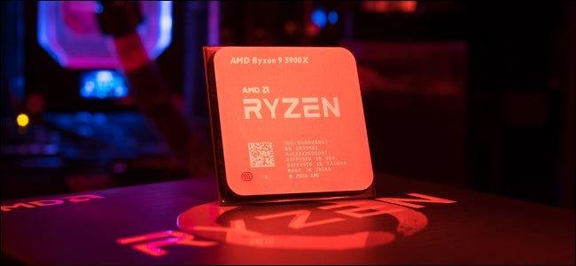 Un procesador de escritorio AMD Ryzen serie 5000.