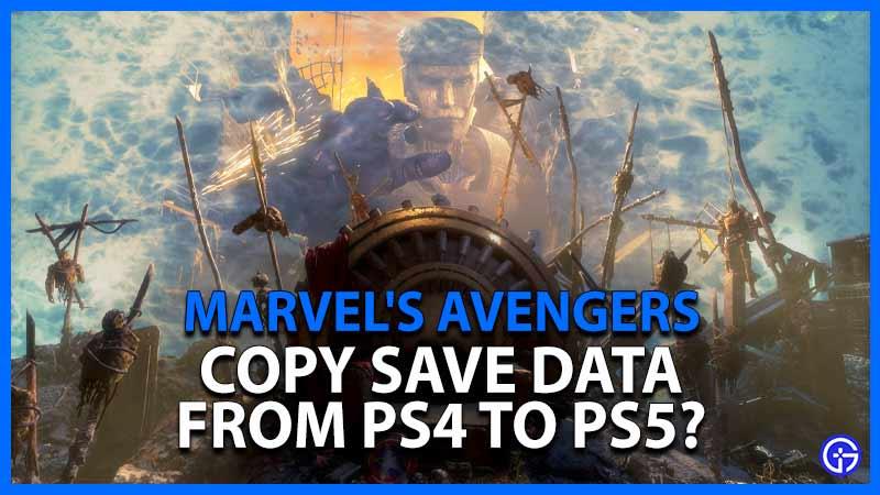Vengadores Data PS4 PS5