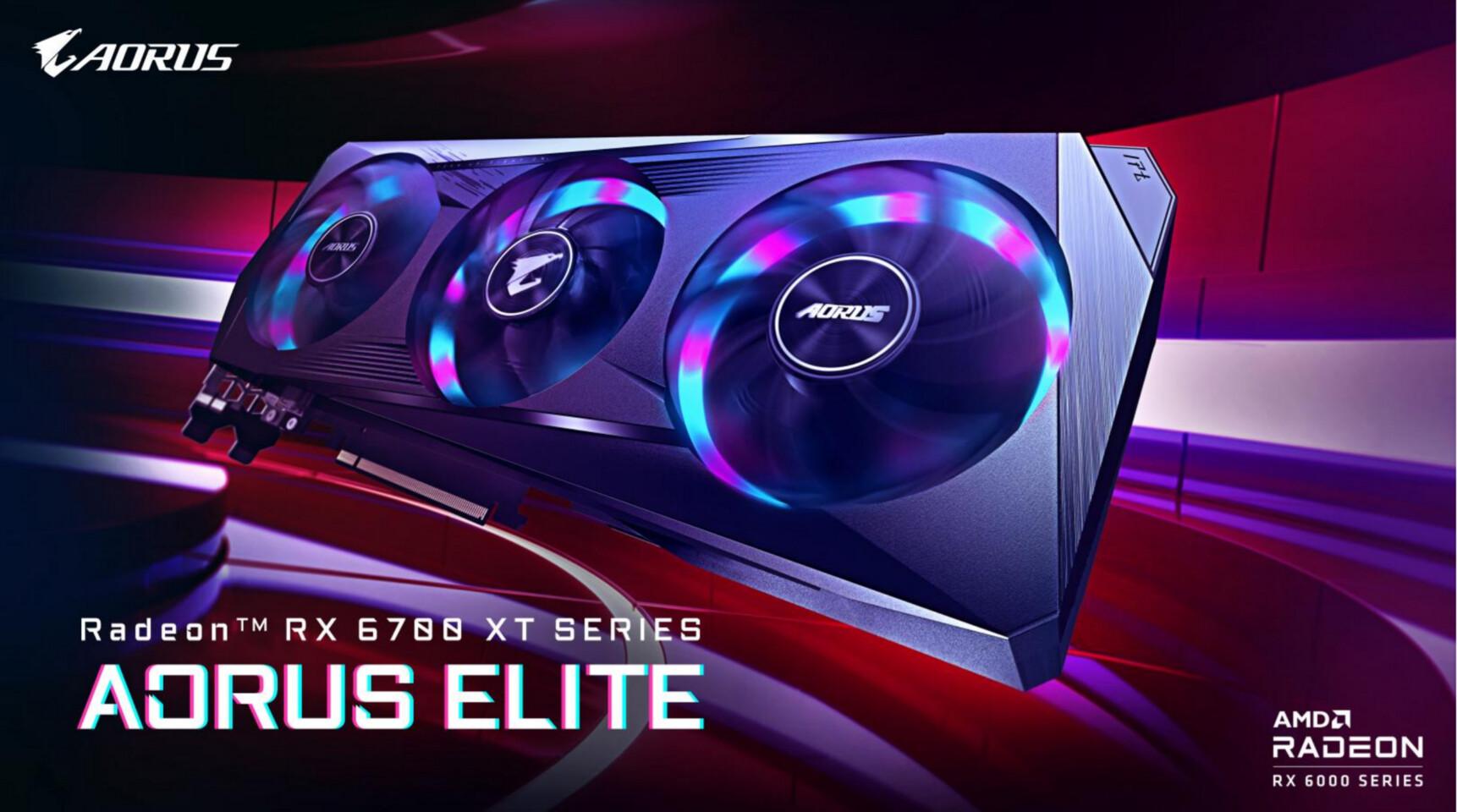 GIGABYTE lanza la tarjeta gráfica Radeon RX 6700 XT AORUS Elite
