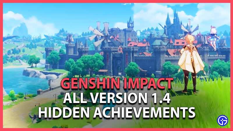 Logros ocultos de Genshin Impact