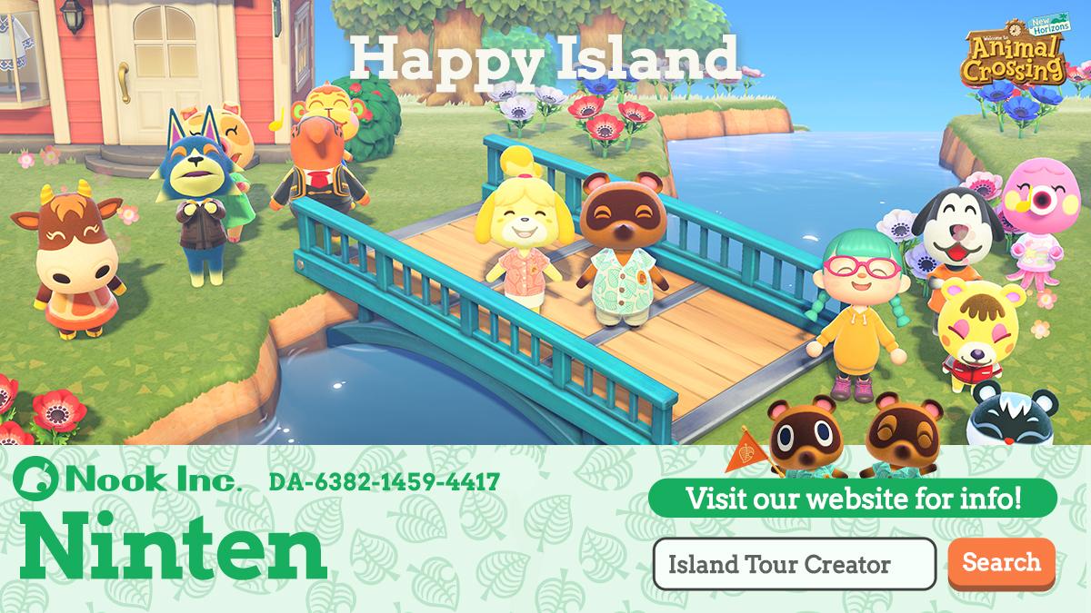 animal crossing new horizons actualiza creador de viajes por la isla