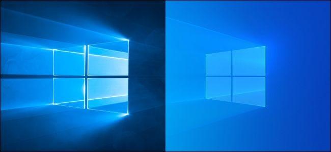 Fondo de escritorio claro oscuro y actualizado original de Windows 10