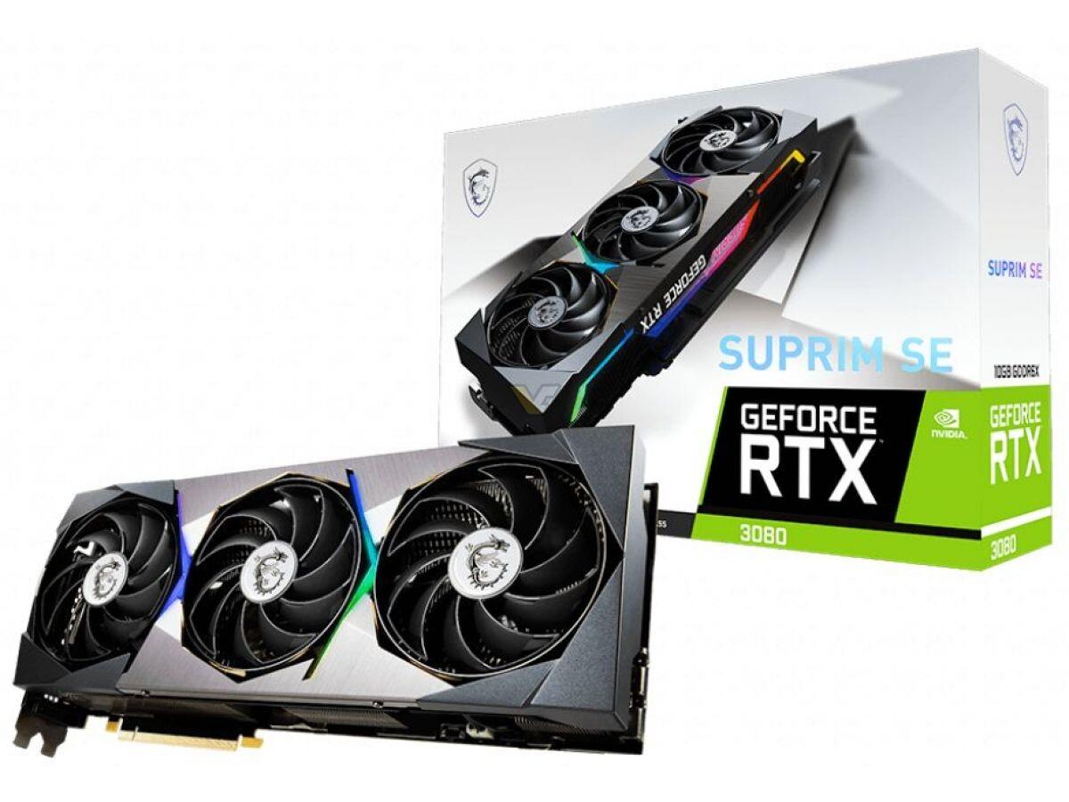 MSI lanza los modelos GeForce RTX 3080, RTX 3070 SUPRIM SE