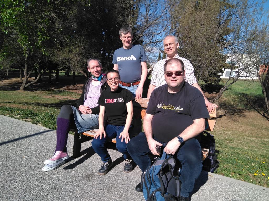 Foto de grupo de los participantes del Web Team Sprint