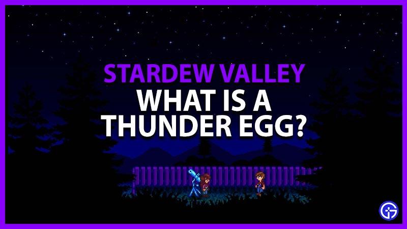 Huevo de trueno de Stardew Valley