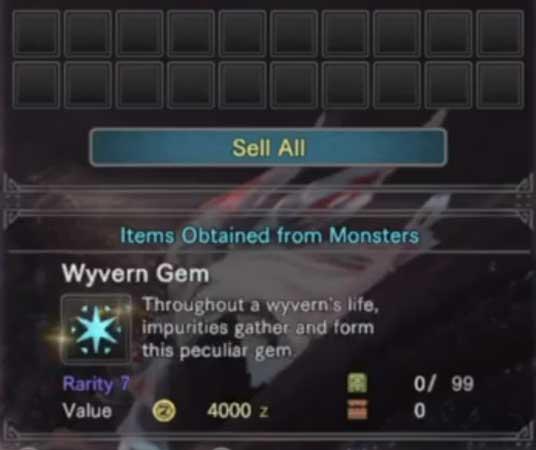 Guía de gemas Wyvern MHR