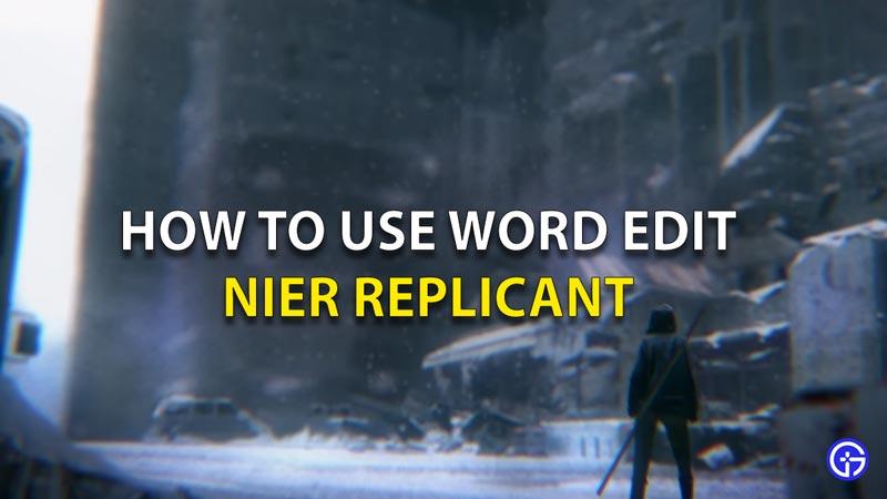 Cómo utilizar Word Edit Nier Replicant