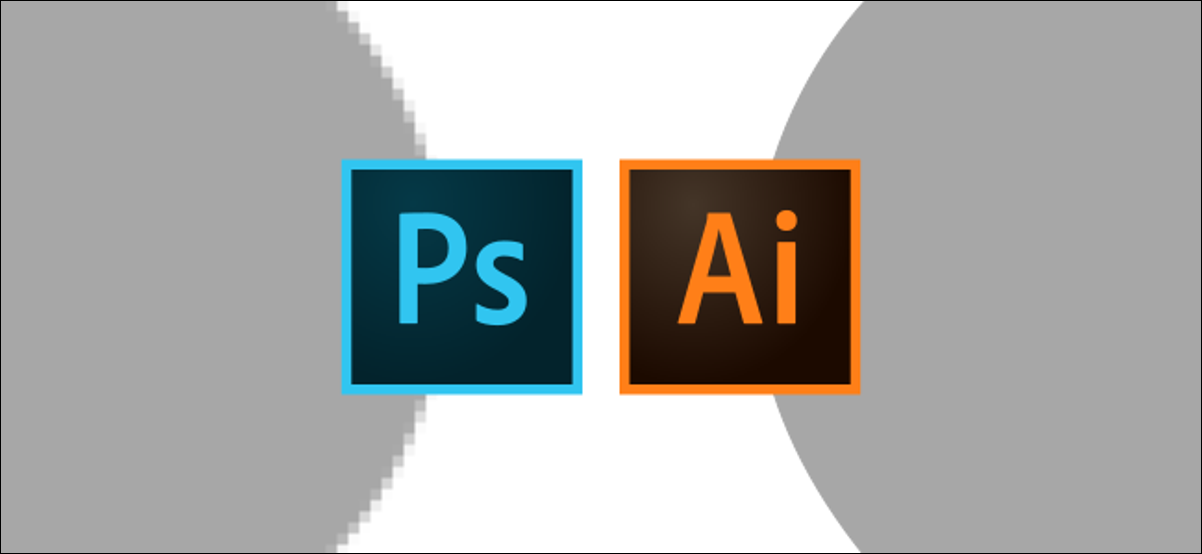 Logotipo de Photoshop e Illustrator