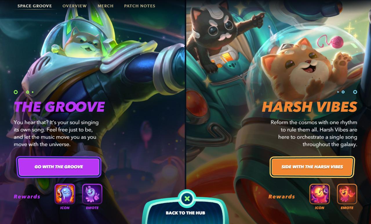 The Groove vs Harsh Vibes Qué camino elegir en el evento Space Groove 2021