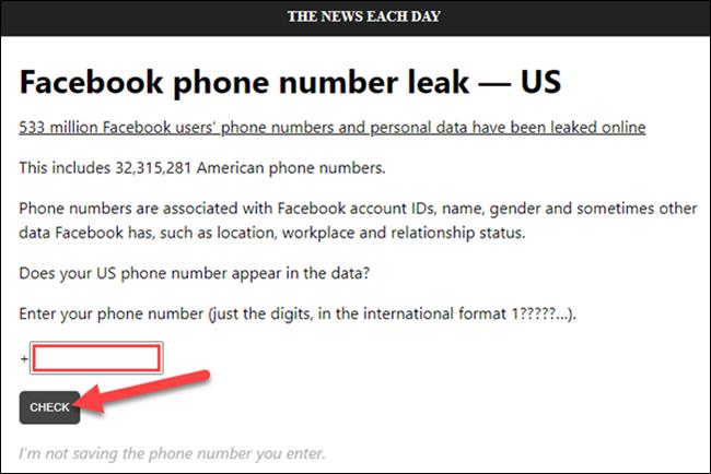 comprobar el número de teléfono