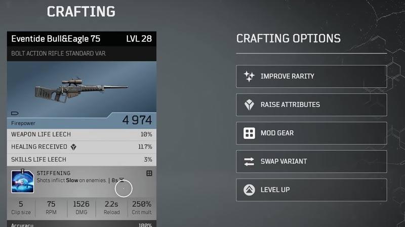 Armas de nivel superior de Outriders
