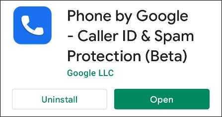 aplicación de teléfono de google en la tienda de juegos