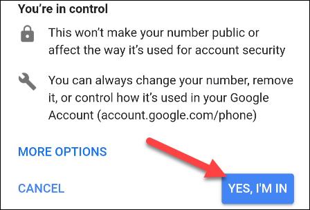 agregar número a google