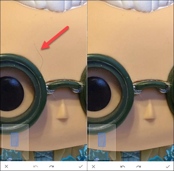 curar herramienta antes y después