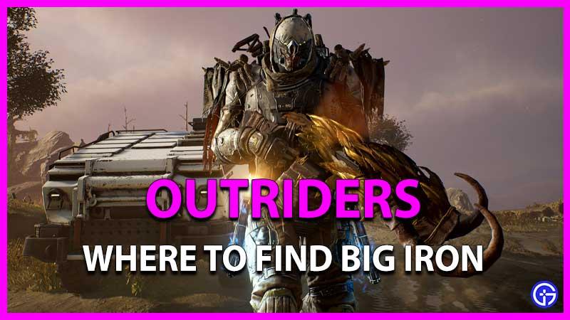 Outriders: Cómo conseguir grandes cantidades de hierro    Misión de arma legendaria