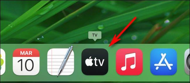 El icono de la aplicación ahora está en el Dock.