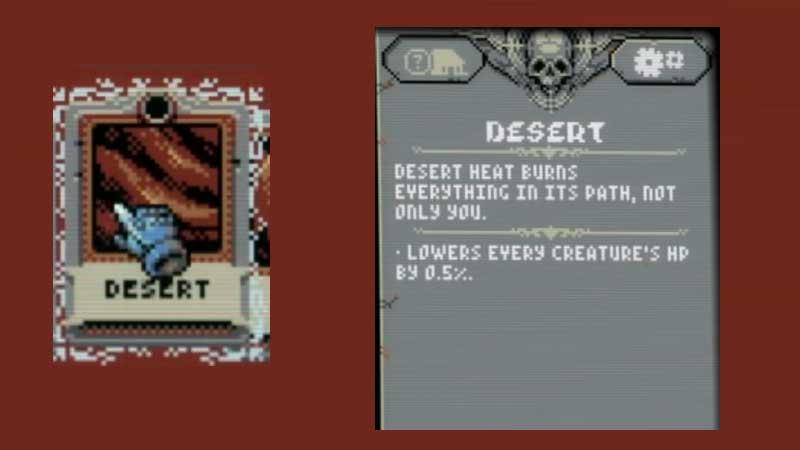 Guía de azulejos del desierto de Loop Hero