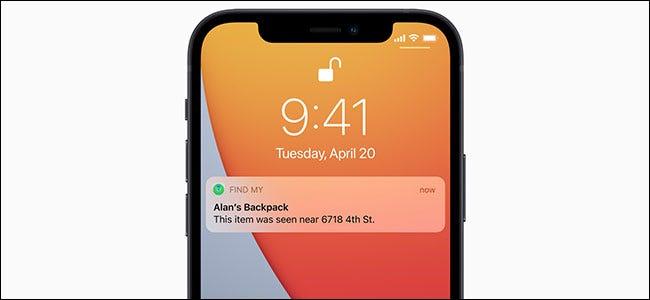 Notificación de detección de Apple AirTag