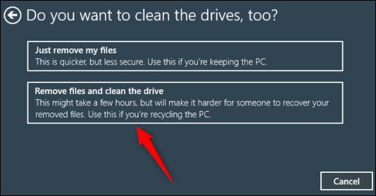 Eliminar archivos y limpiar la opción de unidad