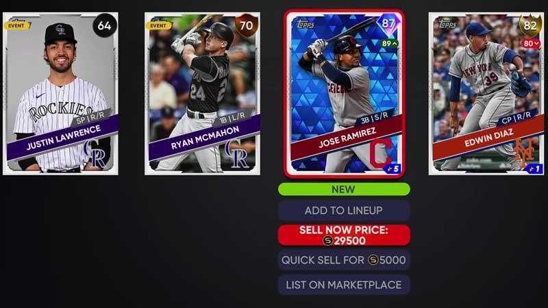 MLB The Show 21: Compre y venda tarjetas de jugador