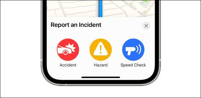 Informar un incidente en Apple Maps