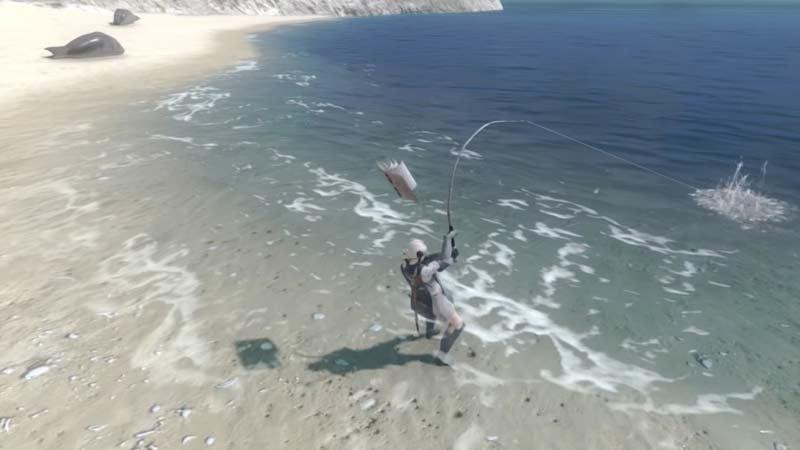 Cómo pescar lubina negra en el replicante de Nier