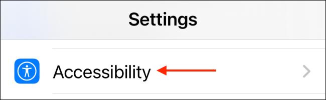 Toque Accesibilidad para la configuración