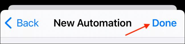 Toque Listo para guardar la automatización