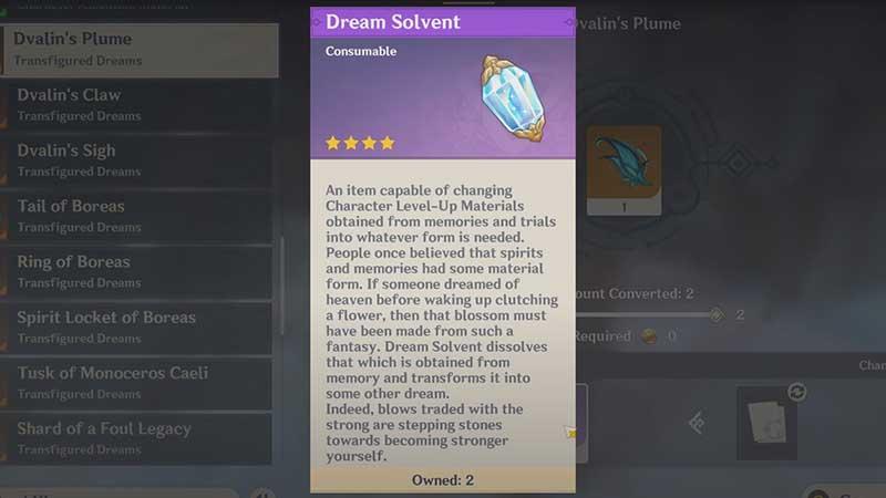 ¿Qué es el solvente de los sueños?