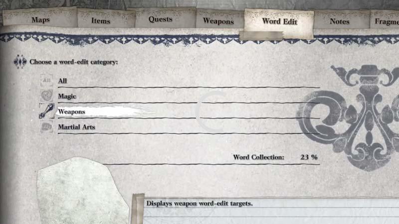 Replicante de Word Edit Nier