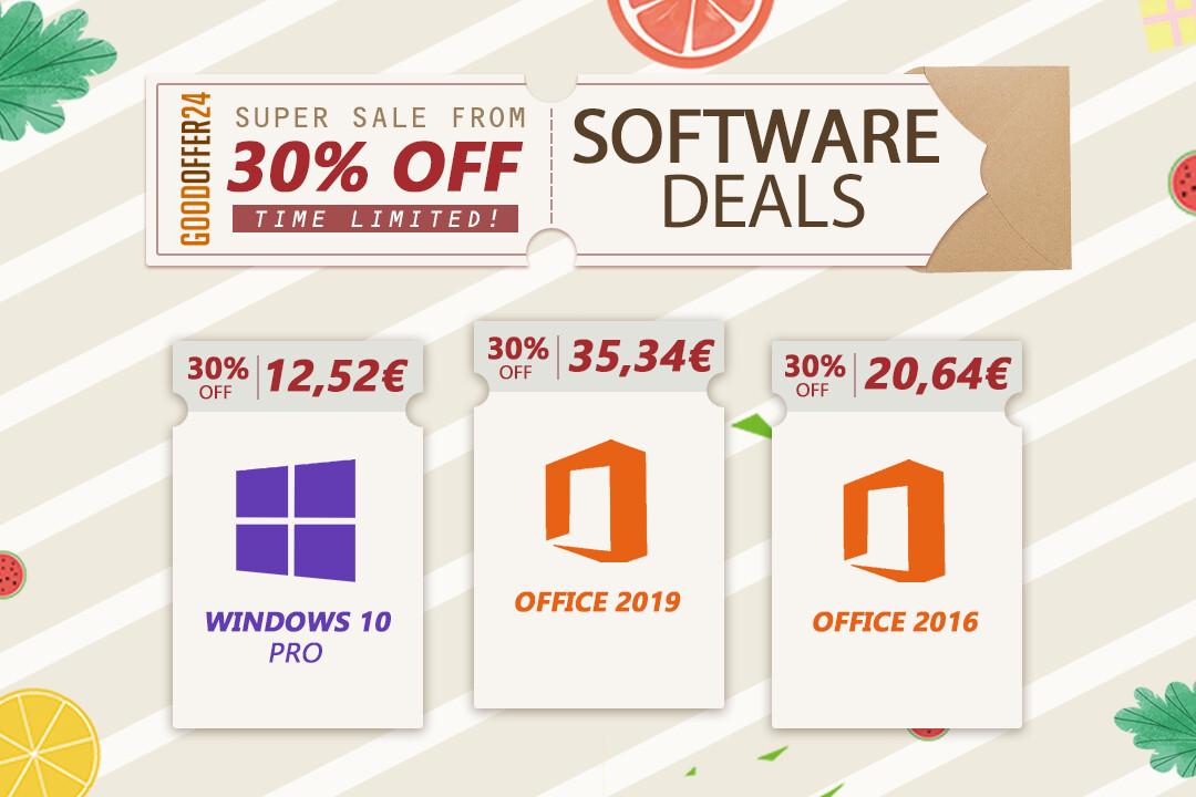 Actualice su PC con el software original con descuento de GoodOffer24