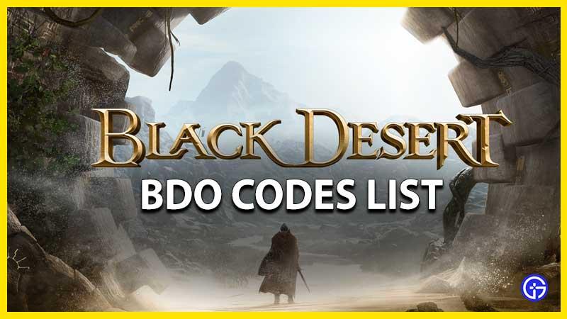 Códigos BDO en línea de Black Desert