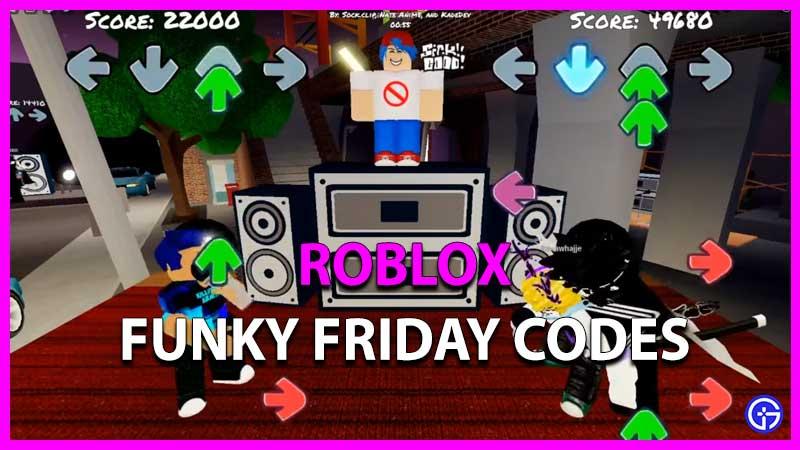 códigos de viernes funky de roblox