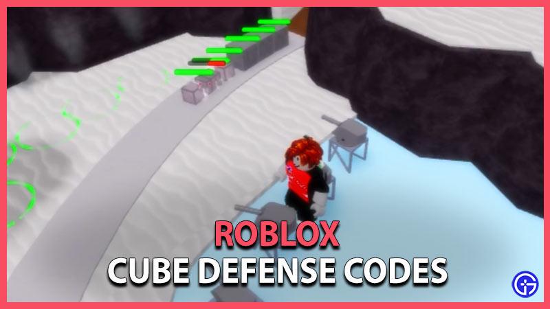 Códigos de defensa del cubo de Roblox